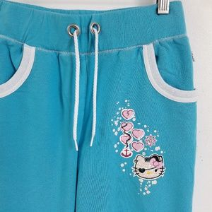 Hello Kitty Girls Sweatpants Sparkly Decals NWOT L